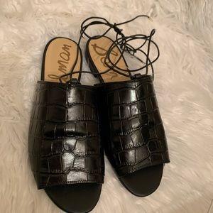 """Sam Edelman """"Tia"""" Black Lace Up Sandals Size 9"""